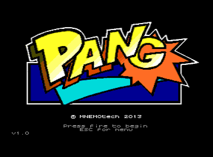 Pang title screen