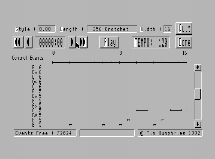 Sam MIDI Sequencer   World of SAM