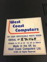 Serial number sticker made by WCC